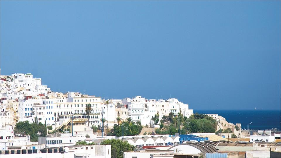 White washed medina in Tangier