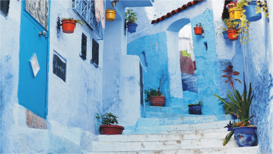 Blue city Chefchaouen in Morocco