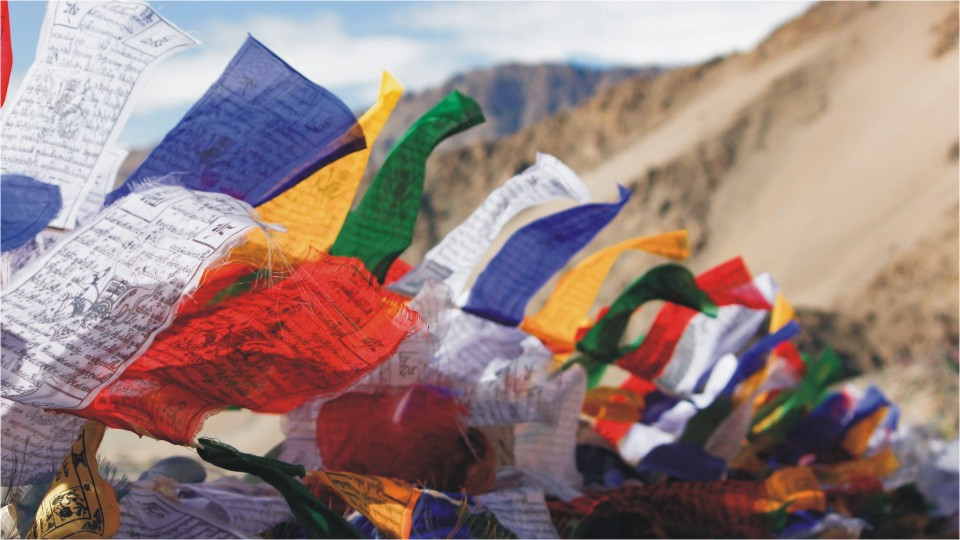 Prayer flags in Ladakh