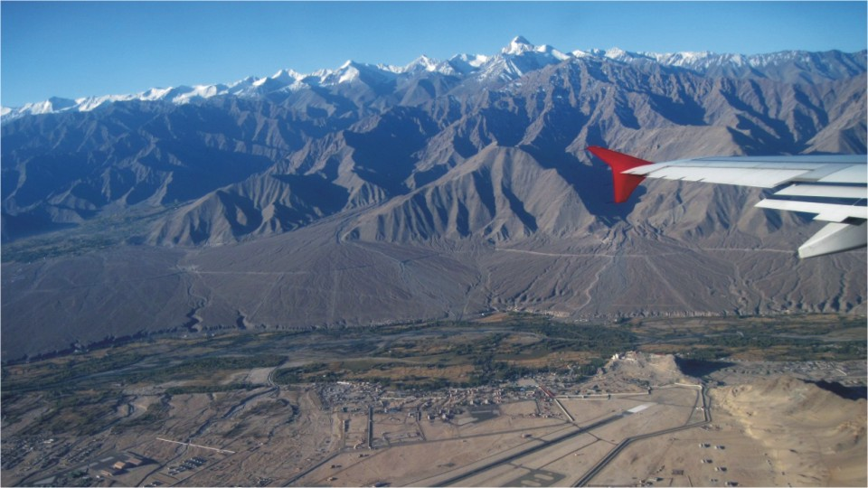 View of the Leh airport