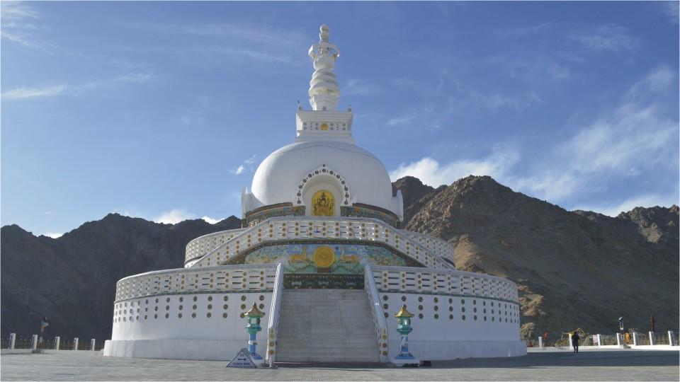 Shanti Stupa in Leh, Ladakh
