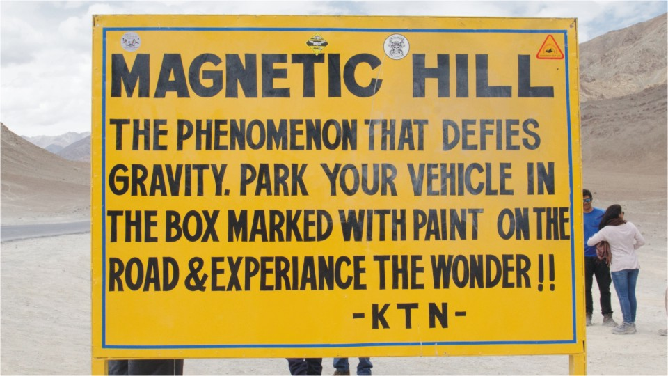 Magnetic hill near Leh, Ladakh