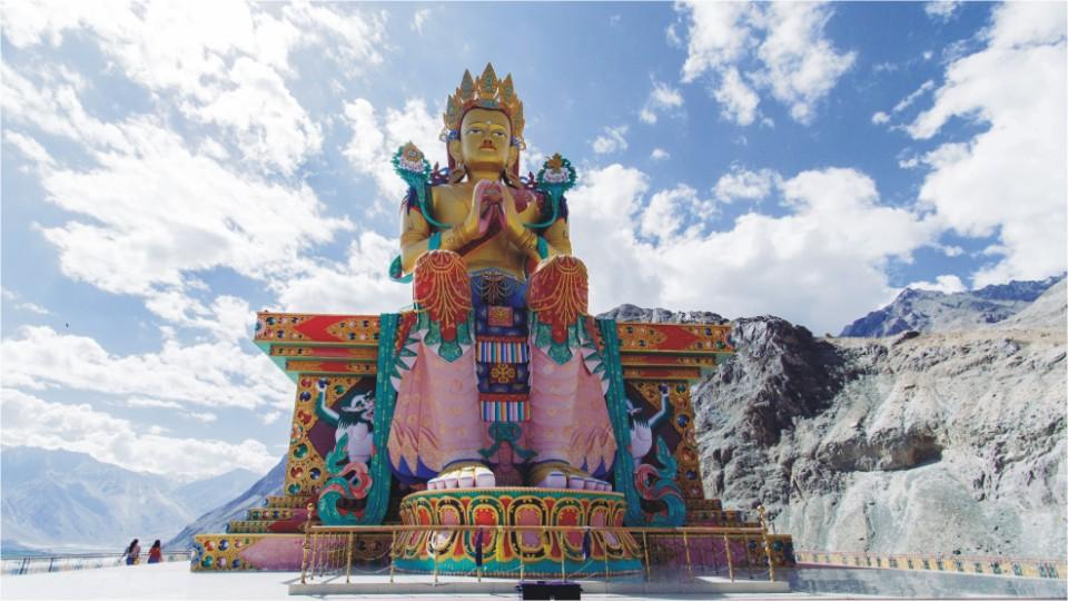 Maitreya from Diskit monastery in Ladakh