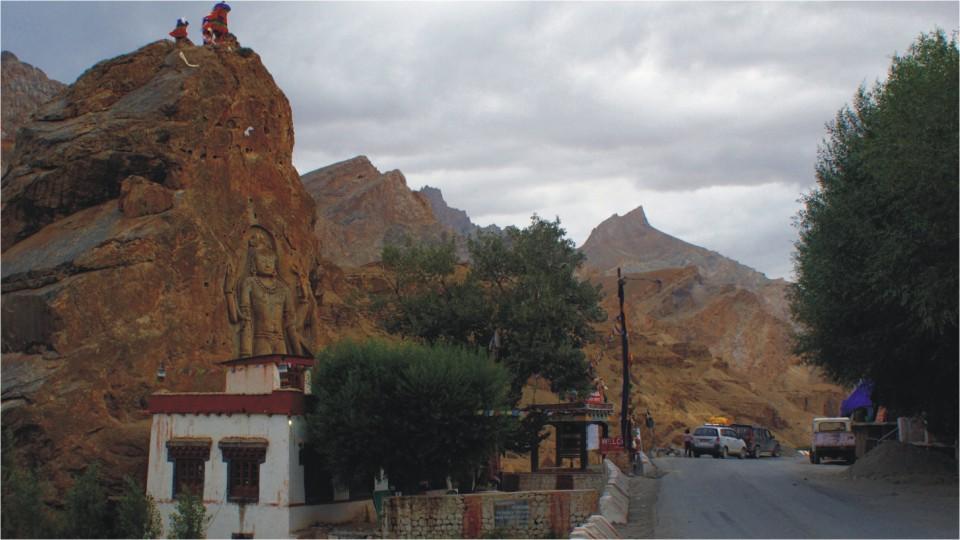 Maitreya Buddha in Mulbekh, Ladakh