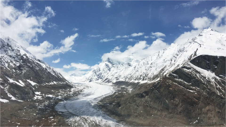 Glacier view from the Pensi la Pass, Ladakh