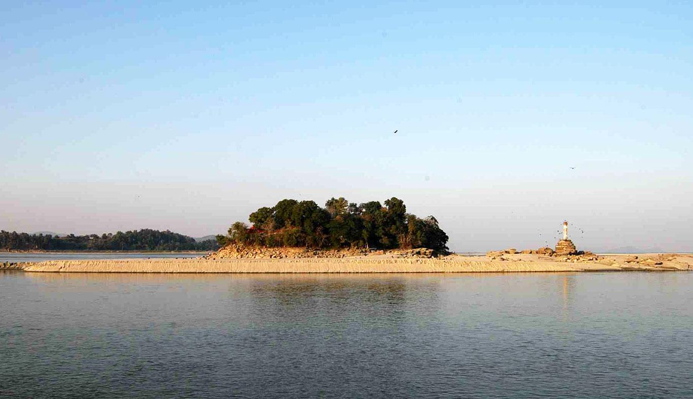 Peacock island near Guwahati